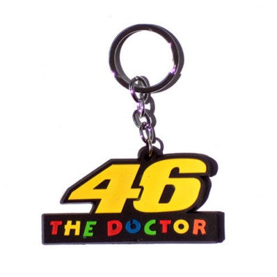 Rubber 46 The Doctor Key Chain For Motorcycles & Cars
