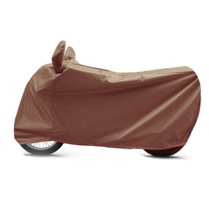 BikeNwear Heavy Duty Water Proof Body cover for TVS Motorcycles Brown