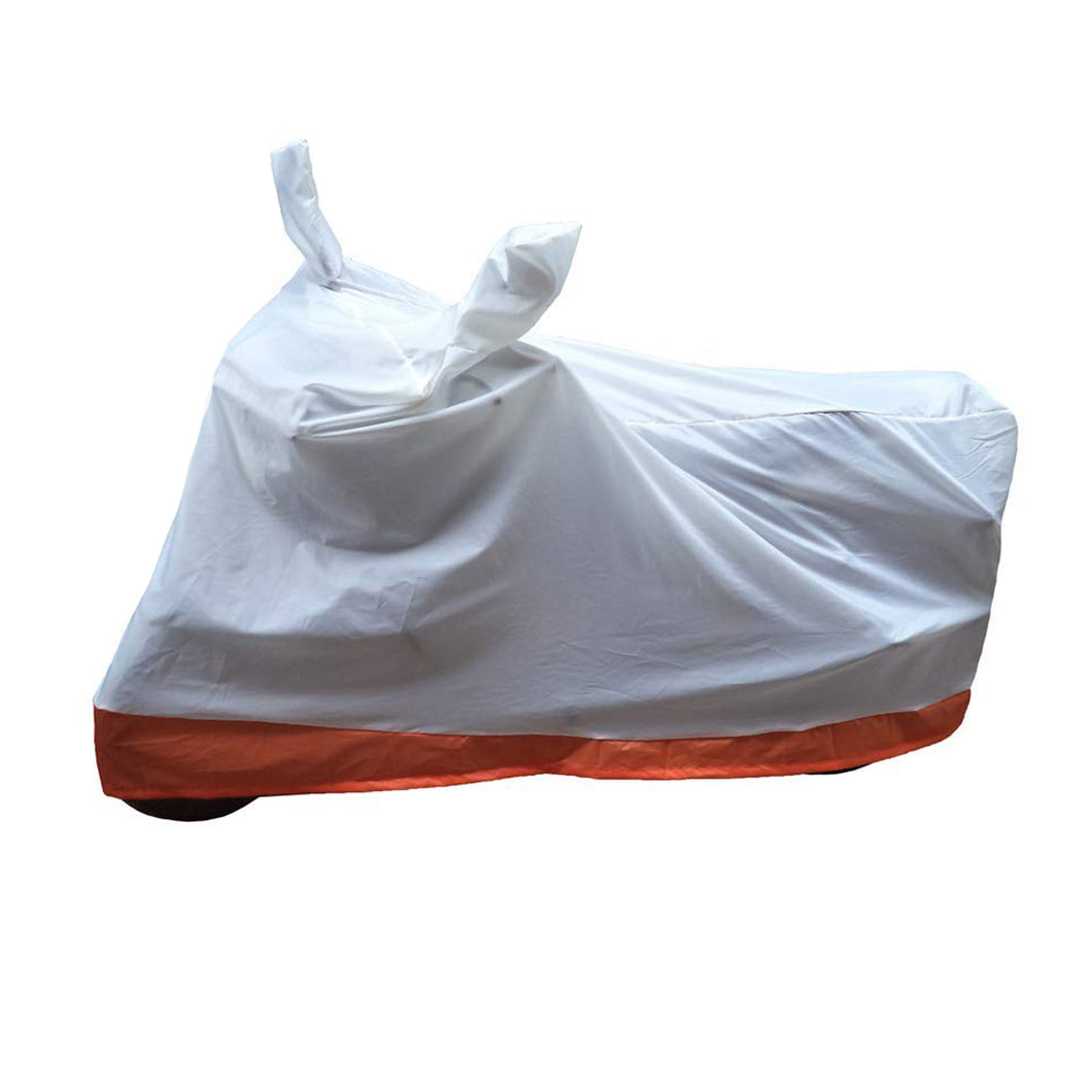 BikeNwear Economy Dual Color Universal Body Cover-White Orange