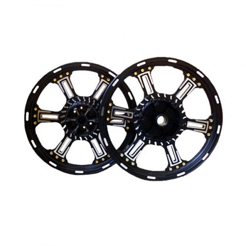 Alloy Wheel 6 Spoke Design With Gold Stud Double Disk For Royal Enfield Classic 350CC & 500CC Modals
