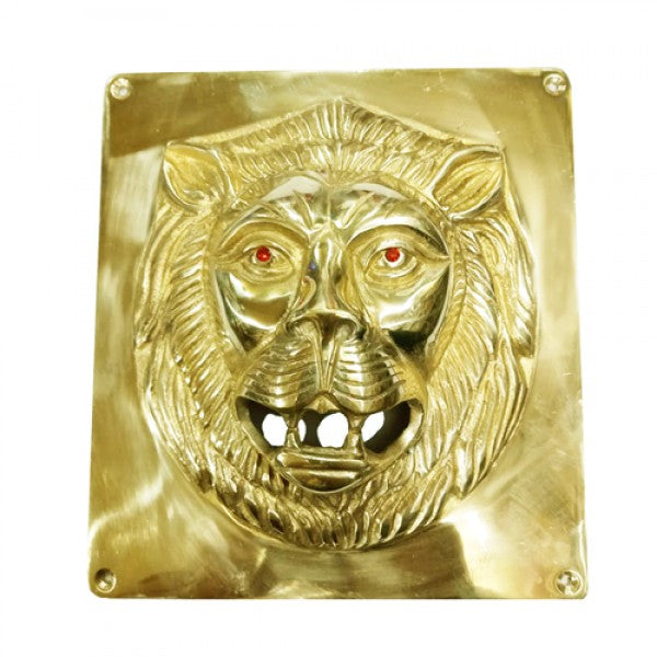 Brass Battery Cover Lion Face For Royal Enfield Motorcycle