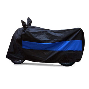 BikeNwear Heavy Duty Water Proof Body cover for Suzuki Motorcycles Dual Color Black Blue
