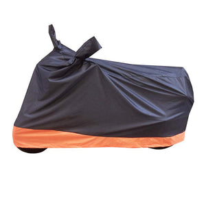 BikeNwear Economy Dual Color Universal Body Cover-Black Orange