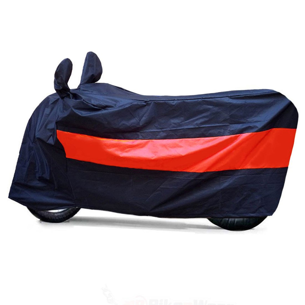 BikeNwear Light Weight Water Proof Body Cover for Bajaj Motorcycle Dual Color Black orange