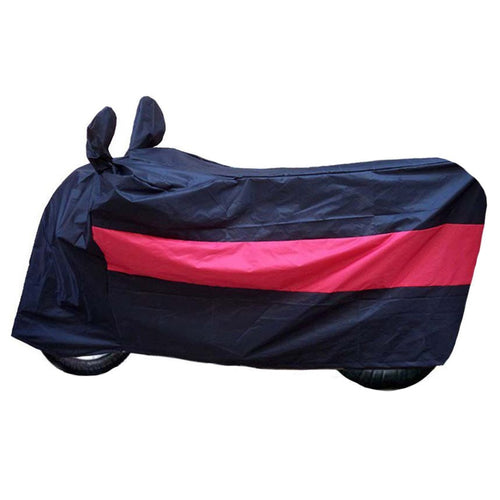 BikeNwear Light Weight Water Proof Body Cover for Bajaj Motorcycle Dual Color Black Red