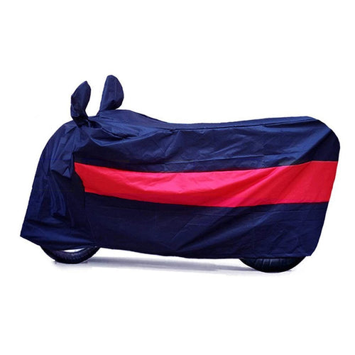 BikeNwear Light Weight Water Proof Body Cover for Bajaj Motorcycle Dual Color Dark Blue Red