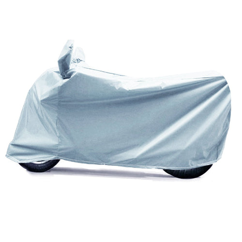 BikeNwear Light Weight Water Proof Body Cover for Bajaj Motorcycle Gray