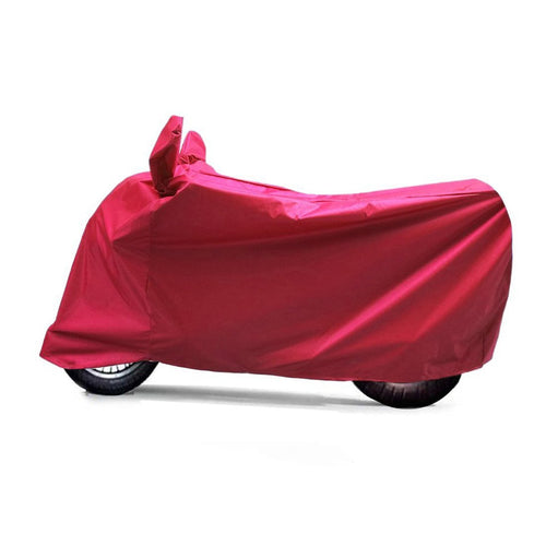 BikeNwear Light Weight Water Proof Body Cover for Bajaj Motorcycle Red