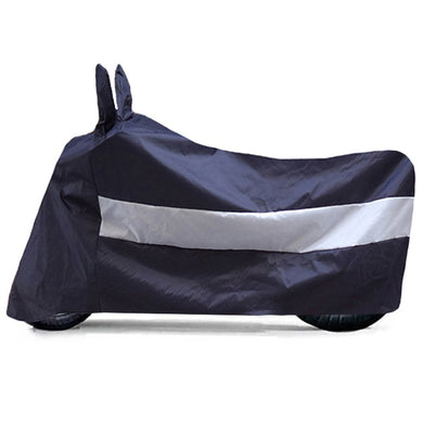 BikeNwear Light Weight Water Proof Body cover for Vespa Scooter Dual Color Dark Blue white