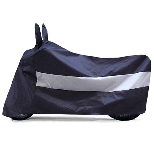 BikeNwear Light Weight Water Proof Body Cover for Bajaj Motorcycle Dual Color Dark Blue white