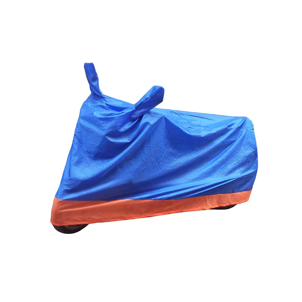 BikeNwear Economy Dual Color Universal Body Cover-Light Blue Orange