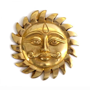 Brass Sun God Symbol Decal For Motorcycle