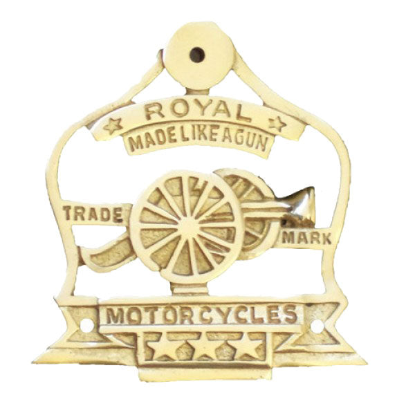 Brass Canon Logo For Royal Enfield Motorcycle