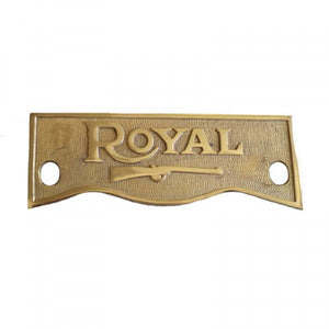 Brass Crown Plate For Royal Enfield Motorcycle