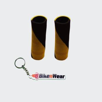 Foam Grip Cover Black And Yeiiow Design Color And  Design With BikeNwear Key Chain