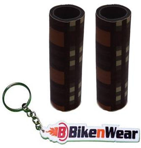 Foam Grip Cover Malti  Color Shade With BikeNwear Key Chain