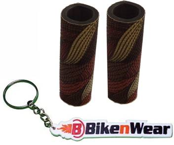 Foam Grip Cover Malti  Color Light Shade  With BikeNwear Key Chain