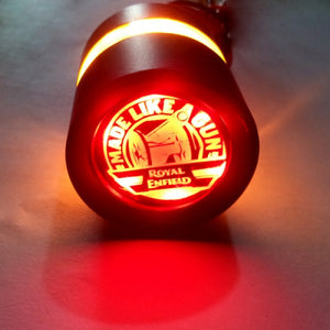 Handle Bar End Weight Made Like A Gun Logo LED Light For Royal Enfield Motorcycle