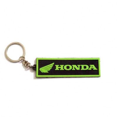 Rubber Green Honda Key Chain For Motorcycles