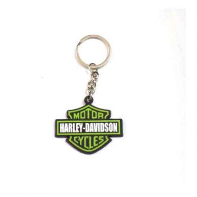 Rubber Harley Davidson Key Chain Green For Motorcycles