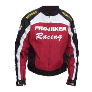 Pro Biker Riding Jacket - Red