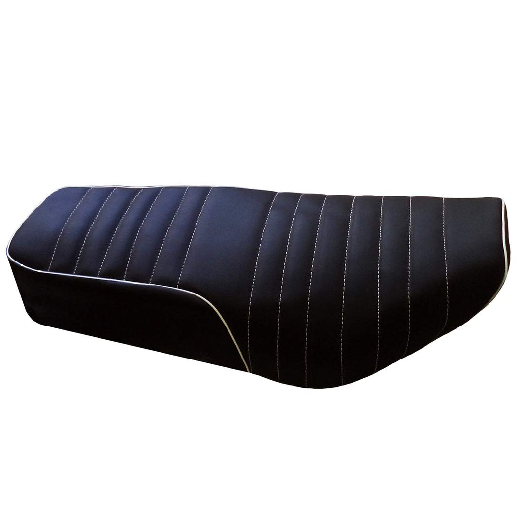 Leatherette Seat Cover Black With Foam For Royal Enfield Electra