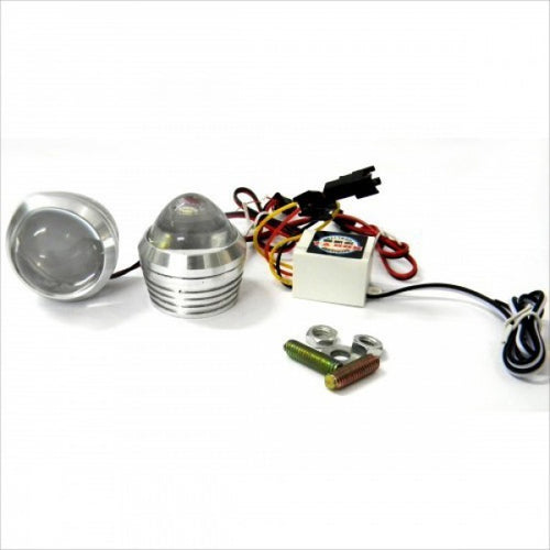 Flashing Strobe Light White For Royal Enfield Motorcycle
