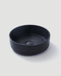 Concrete Round Basin (Black)