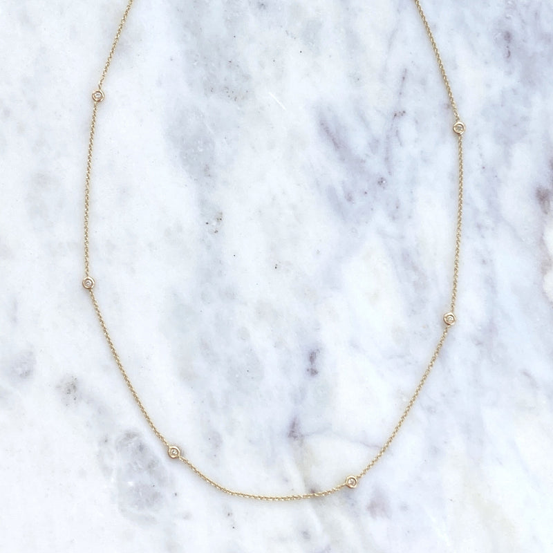 diamonds by the yard necklace 14k yellow gold mama bijoux