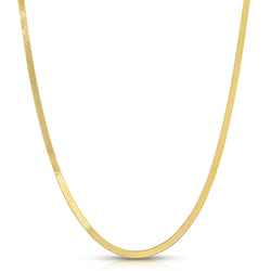 14k solid yellow gold herringbone chain necklace mommy and me mama bijoux fine jewelry