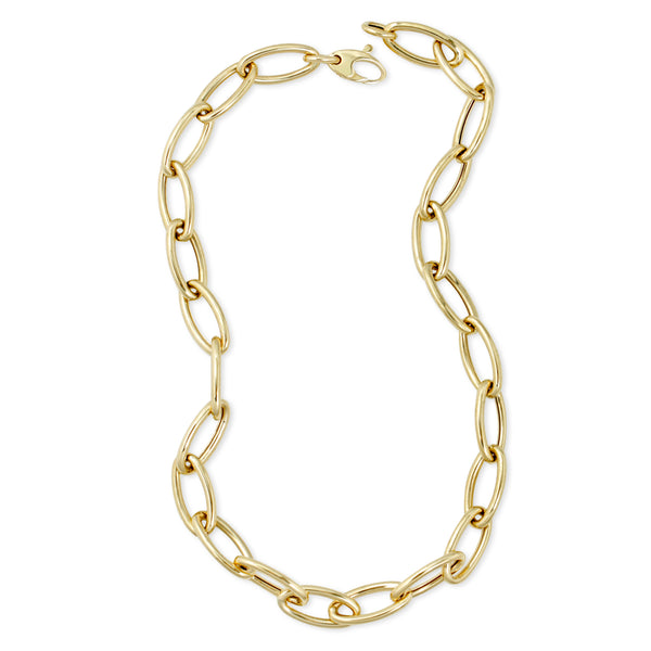 Molly Sims Jumbo Link Chain Necklace Mama Bijoux Fine Jewelry 14k Gold