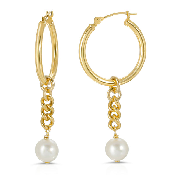 chain and pearl earring charms fine jewelry mommy and me mama bijoux
