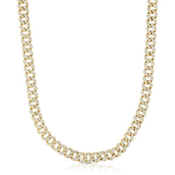 """The Gigi"" Classic Curb Chain Necklace (.925 Silver & CZ)"
