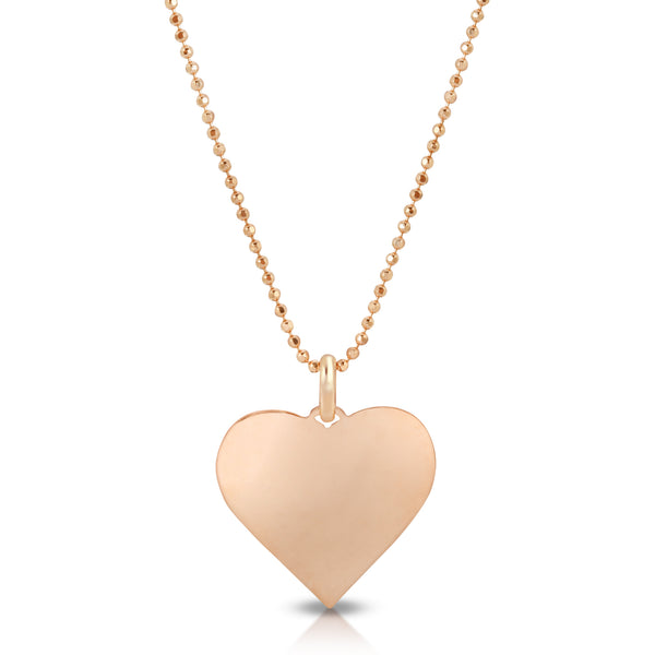 14k gold heart charm engraving gifts mommy and me Mother's Day gift sentimental