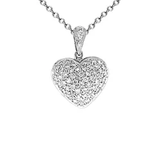 18k Diamond Heart Necklace P199
