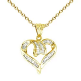 18k Diamond Heart Necklace P106