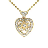 18k Diamond Heart Necklace P546