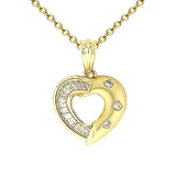 18k Diamond Heart Necklace P116