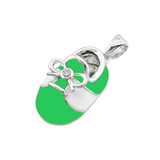 baby shoe charm pendant with diamond