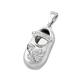 18k Baby Shoe Charm Pendant with Diamonds P-951A