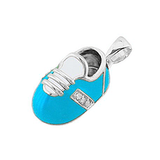 14k Baby Shoe Charm Pendant with Diamonds and Enamel P-303-QW