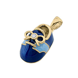 14k Baby Shoe Charm Pendant with Diamond and Enamel P-806-BQ