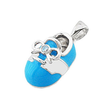 14k Baby Shoe Charm Pendant with Diamond and Enamel P-805-QW