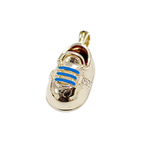 14k Baby Shoe Charm Pendant with Diamonds P-304-LB