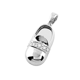 18k Baby Shoe Charm Pendant with Diamonds P-201-SH