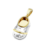 18k Baby Shoe Charm Pendant with Diamonds P-506-T