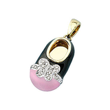 18k Baby Shoe Charm Pendant with Diamonds and Enamel P-988-KN