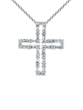 18k Diamond Cross Necklace P-11645