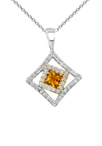 14k Diamond Necklace P-744