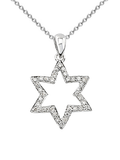 14k Diamond Star of David P-12026